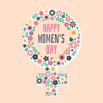 Wydarzenie z okazji dnia kobiet z motywem kwiatów