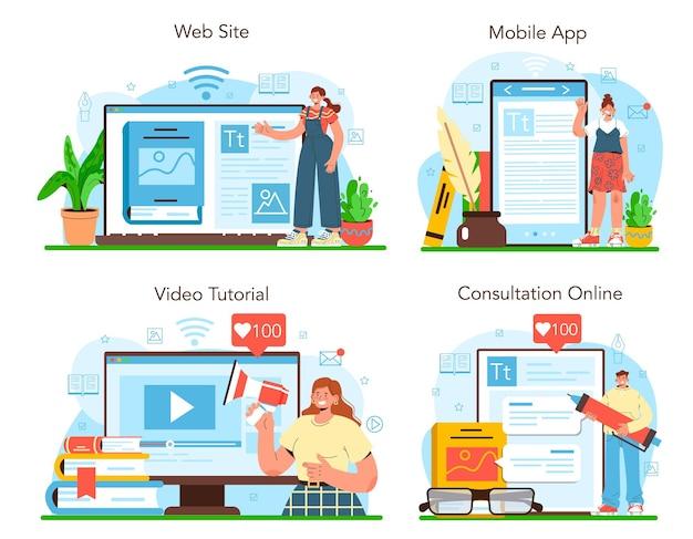 Wydawca usługi online lub edytor zestawu platform pracujący nad książką