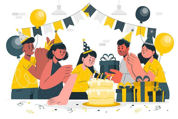 Wydmuchiwanie ilustracja koncepcja świeczki urodzinowe
