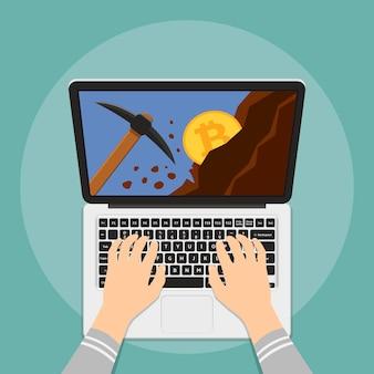 Wydobywanie bitcoinów z laptopa