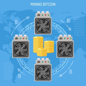 Wydobywanie kryptowalut bitcoinowych koncepcji
