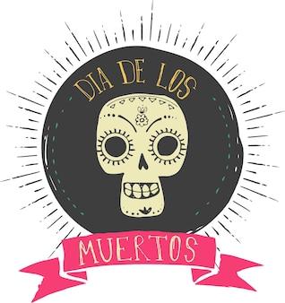 Wydrukuj meksykańską czaszkę dzień zmarłych