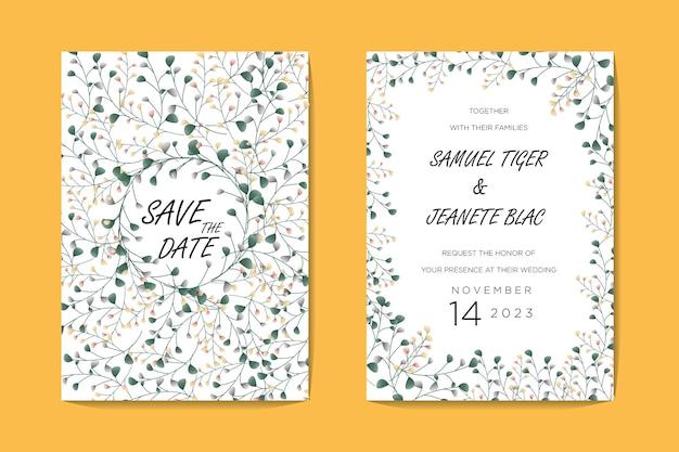 Wydrukuj szablon zaproszenia ślubne kwiaty
