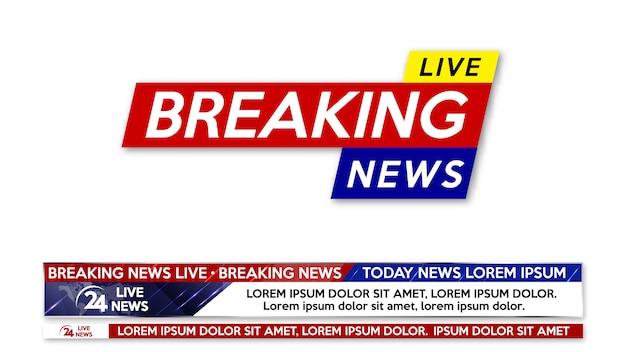 Wygaszacz ekranu w tle przy najświeższych wiadomościach. najświeższe informacje na żywo banner.