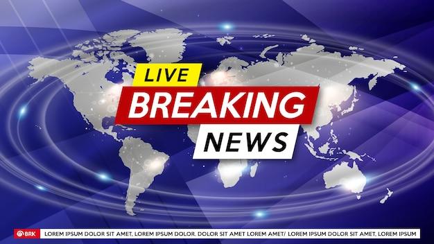 Wygaszacz ekranu w tle przy najświeższych wiadomościach. najświeższe wiadomości na żywo.