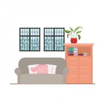 Wygodna domowa kanapa ilustracja