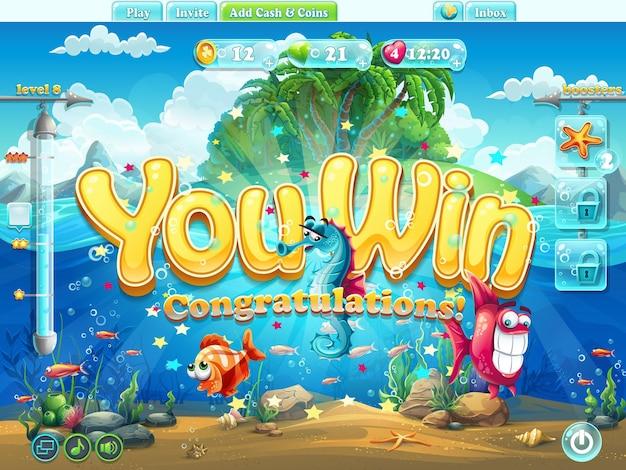 Wygrałeś przykładowy ekran świata ryb