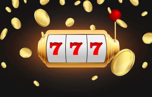 Wygrana dużego jackpota złote monety spadają z nieba easy money