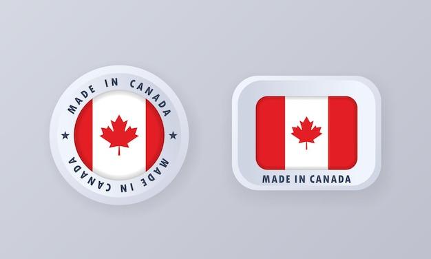Wykonane w kanadzie ilustracji