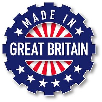 Wykonane w kolorze flagi wielkiej brytanii. ilustracja wektorowa