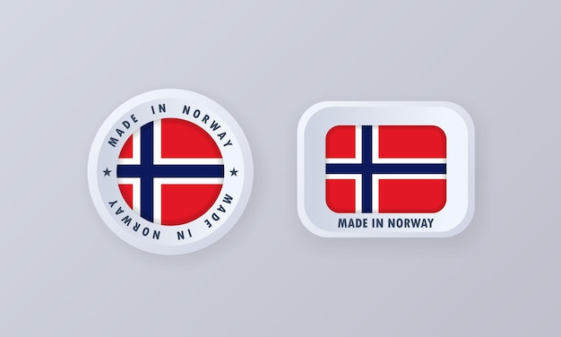 Wykonane w norwegii ilustracji