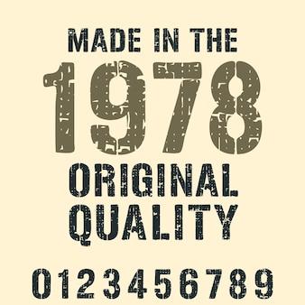 Wykonane w różnych latach typografii do nadruku stempla na koszulce, aplikacji na koszulkę, sloganów modowych, odznaki, odzieży etykietowej, dżinsów lub innych produktów drukarskich. ilustracja wektorowa.