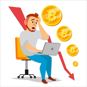 Wykres awarii bitcoin