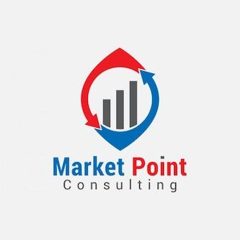 Wykres biznes logo