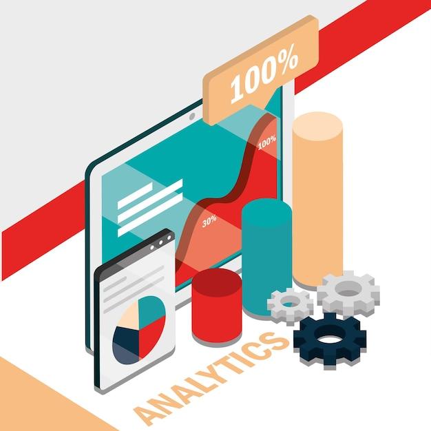 Wykres biznesowy i dane analityczne