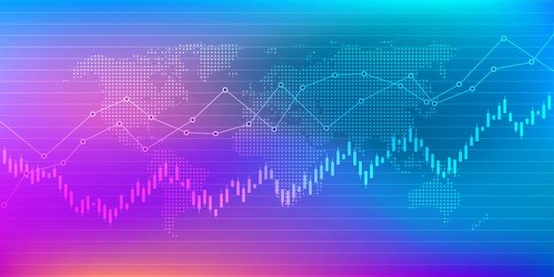 Wykres giełdowy lub wykres giełdowy
