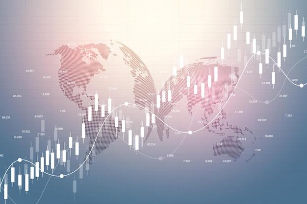Wykres giełdowy lub wykres handlu forex