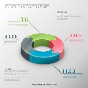 Wykres graficzny infograficzna szablon