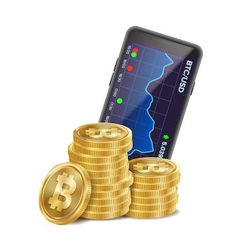 Wykres handlu bitcoinami
