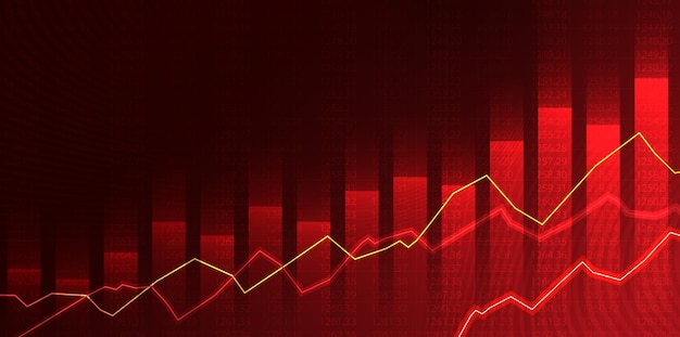 Wykres handlu na giełdzie papierów wartościowych w koncepcji graficznej odpowiedni dla inwestycji finansowych