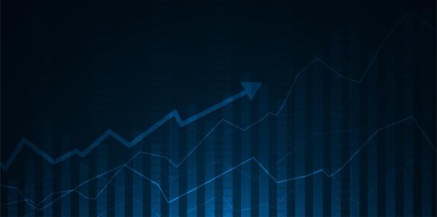 Wykres handlu na giełdzie papierów wartościowych w odpowiedniej koncepcji graficznej.