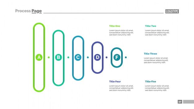 Wykres ostrosłupa z pięcioma opcjami szablonu