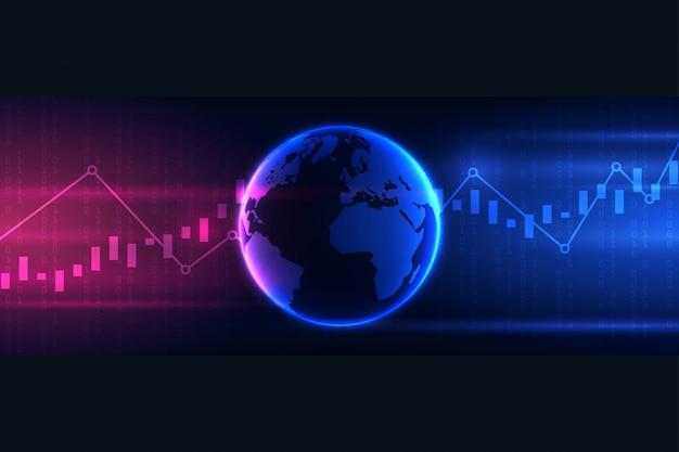 Wykres słupkowy świecy biznesu obrotu inwestycjami na giełdzie, zwyżkowy, niedźwiedzi dla koncepcji biznesowych i finansowych, raportów i inwestycji.