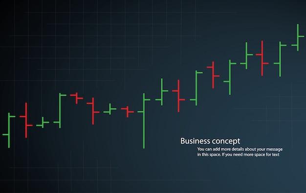 Wykres słupkowy wykres giełda wektor