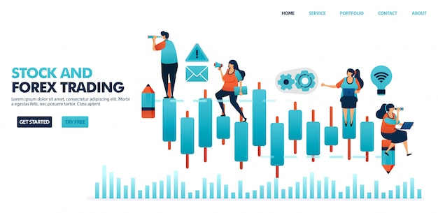 Wykres świecowy w handlu forex, akcjach, funduszach inwestycyjnych, towarach, walucie.