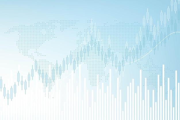 Wykres wykresu giełdowego lub biznesowego handlu forex.