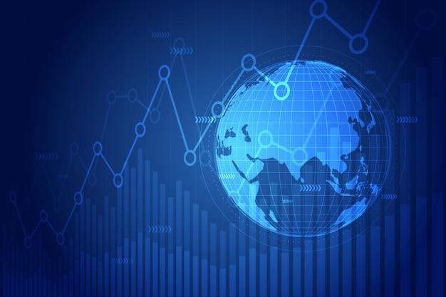 Wykres wzrostu gospodarczego z globu.