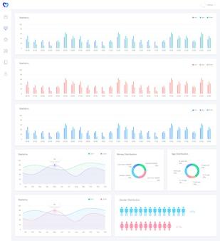 Wykresy analizy infographic