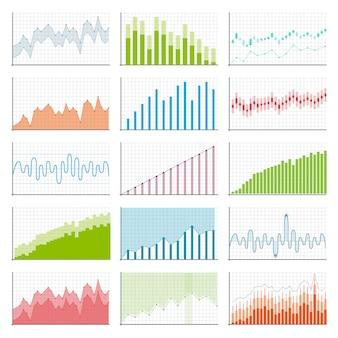 Wykresy finansowe danych biznesowych. schemat finansów.