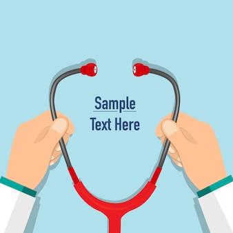 Wykształcenie medyczne z stetoskopem.