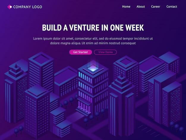 Wyładunek firmy budowlanej venture business company