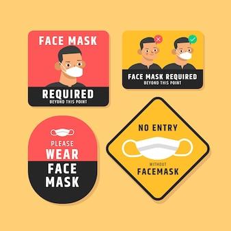 Wymagana maska na twarz