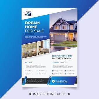 Wymarzony dom na sprzedaż szablon ulotki nieruchomości