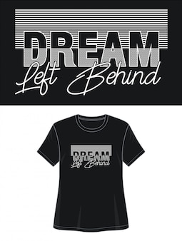 Wymarzony t-shirt z motywem typografii
