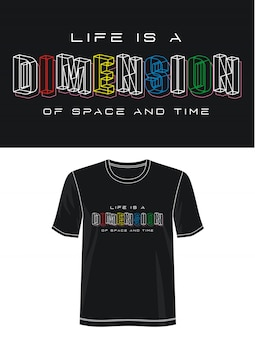 Wymiarowa typografia do koszulki z nadrukiem