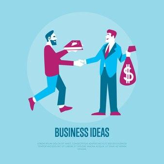 Wymieniaj pomysły na pieniądze