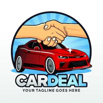 Wynajem samochodów deal logo szablon wektor