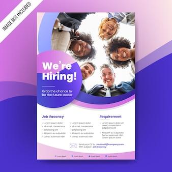 Wynajmujemy plakat lub projekt banera. ogłoszenie o wolnych stanowiskach pracy