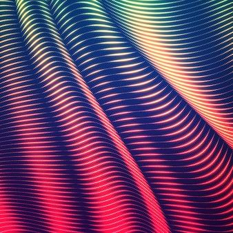 Wypaczone linie kropkowane tło