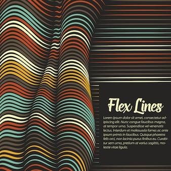 Wypaczone linie tła