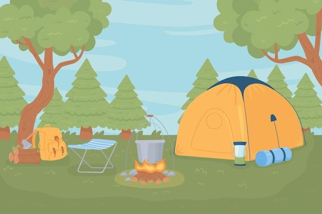 Wyposażenie namiotu kempingowego