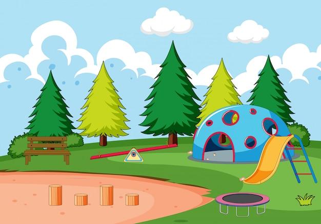 Wyposażenie placów zabaw w parku