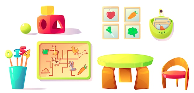 Wyposażenie przedszkola montessori, zabawki, materiały