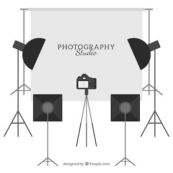 Wyposażone studio fotograficzne