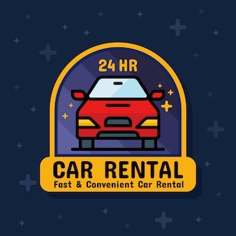 Wypożyczalnia samochodów odznaka transparent naklejki