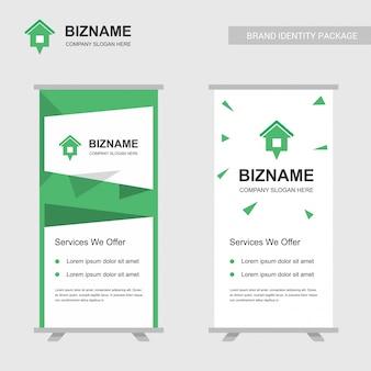 Wypożyczyć logo firmy i szablon bannera